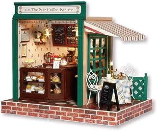 XYZMDJ Miniatyr dockhus, dockhus miniatyr gör-det-själv huskit, med möbler för romantisk present