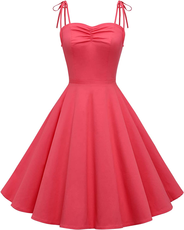 1950s Dresses, 50s Dresses | 1950s Style Dresses Wedtrend Womens Vintage Polka Audrey Dress 1950s Retro Plaids Cocktail Dress $28.99 AT vintagedancer.com