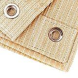 Telas para toldos ZAY Tela de Sombra de jardín de HDPE Beige con Arandelas de Cobre, Malla de Sombra Resistente al Viento y al Polvo for el Porche del Patio de la pérgola (Size : 4x5cm)