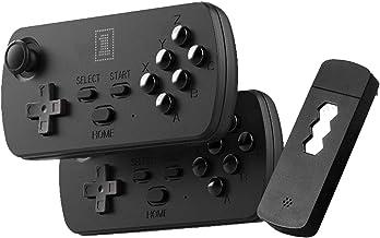 OOTD Mini console de jeux HD rétro, 1700/3500 jeux 6 boutons sans fil Joystick HDMI intégré Portée de contrôle 8 m Manette...