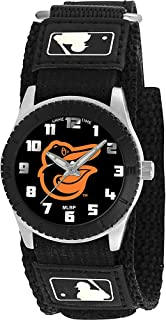 Game Time Boys' Rookie Black Japanese-Quartz Watch with Canvas Strap, 20 (Model: MLB-ROB-BAL2
