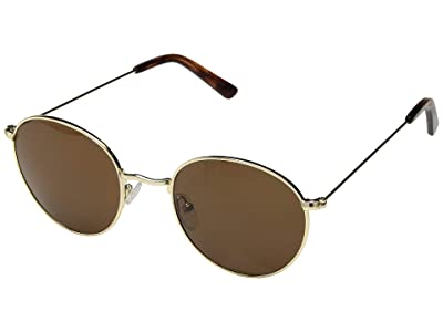 Madewell Fest Aviator Sunglasses (Golden Brown) Fashion Sunglasses