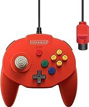 Retro-Bit Tribute 64 Wired N64 Controller for Nintendo 64 - Original Port - (Red)