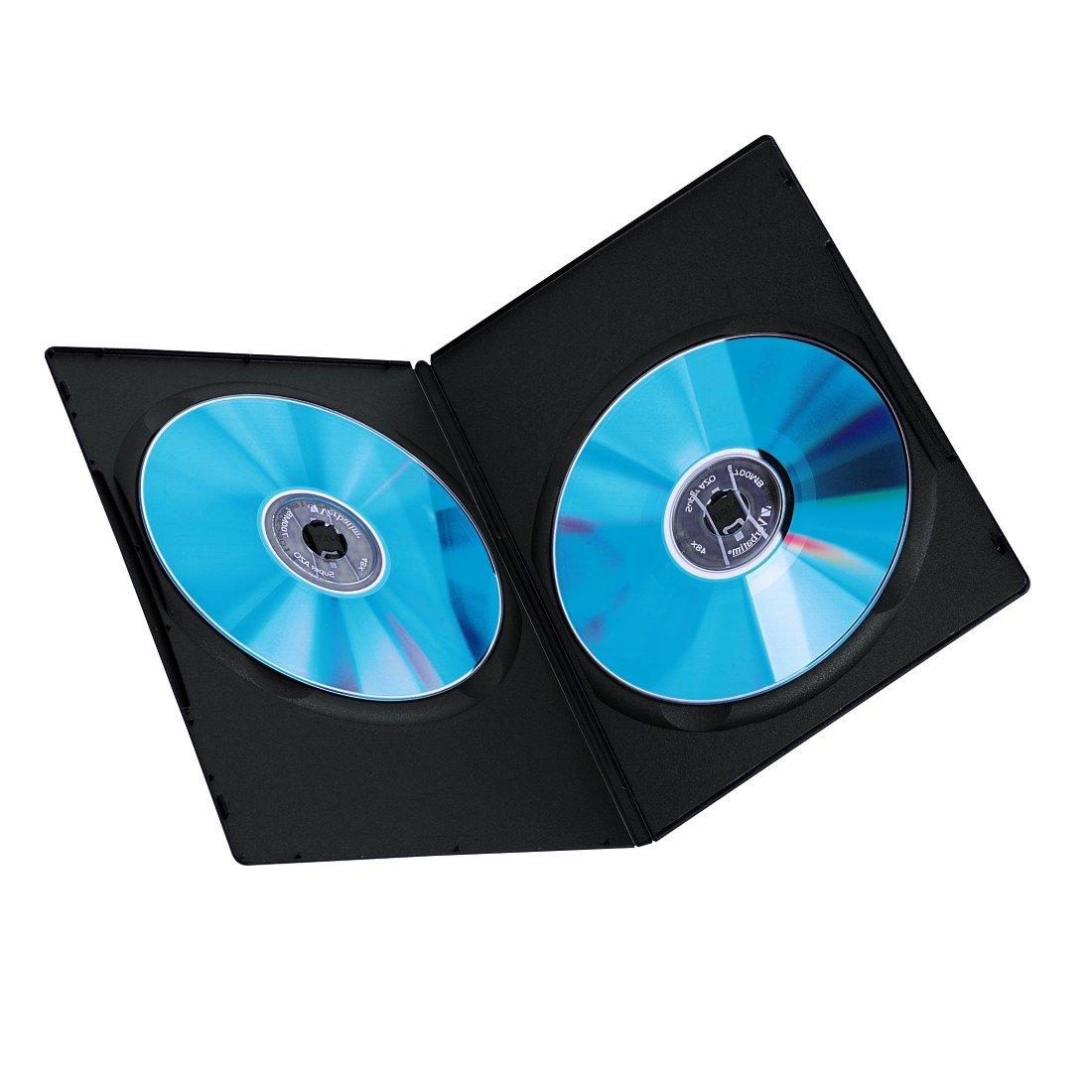 Hama 51185 - Carcasa para DVD (25 Unidades), Negro: Amazon.es: Informática