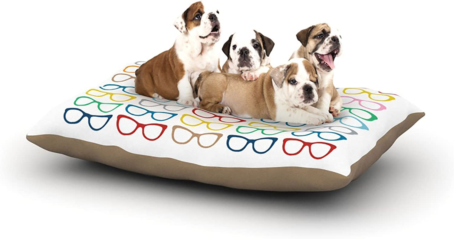 Kess InHouse Project M Rainbow Specs  Dog Bed, 30 by 40Inch