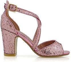 Amazon.co.uk: Pink Glitter Heels