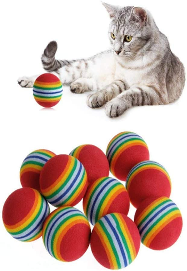 Love shops Sponge Ball Cat Toy Soft Inte Balls Foam Rainbow Inexpensive Sales for sale Play