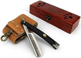 A.P. Donovan - Rasoir traditionnel de barbier pour homme | Coupe Choux | Razor | Rasage | Poignée en plastique noir
