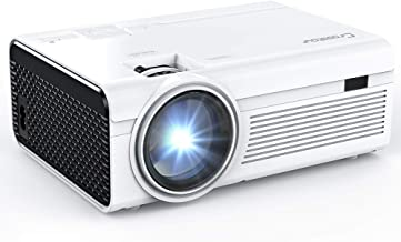 Projector, Crosstour Mini LED Video Projector Home Theater Supporting 1080P 55,000 Hours Lamp Life Compatible with HDMI/US...