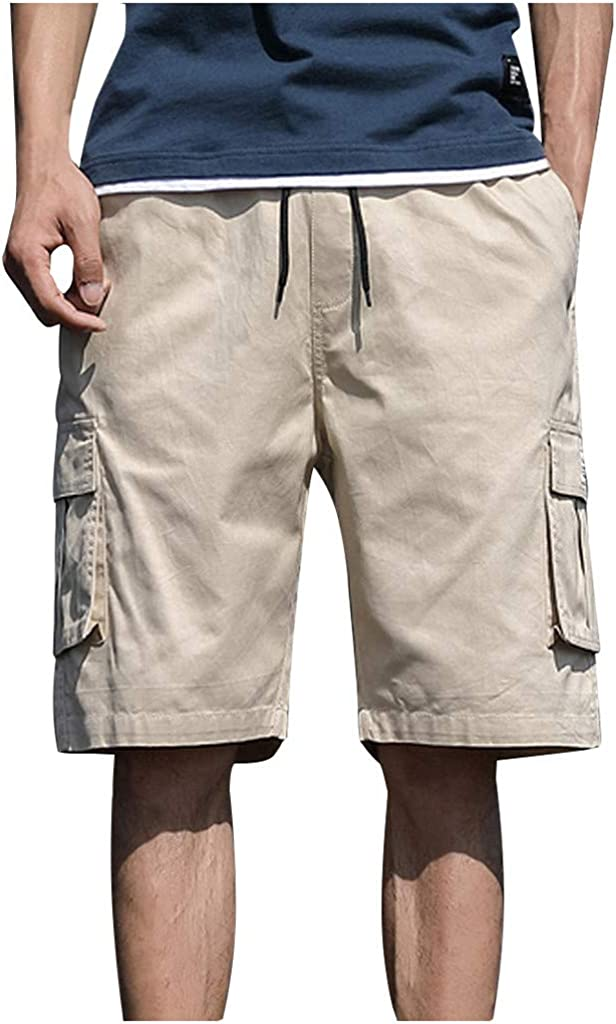 DIOMOR Plus Size Fashion Outdoor Cargo Shorts for Men Classic 9