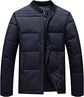 Howely Men Pure Colour Thicken Warm Winter Relaxed Plus-Size Down Parka