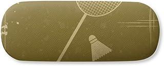 Sport Badminton Illustration Pattern Gl Case Eyegl Hard Shell Storage Spectacle Box