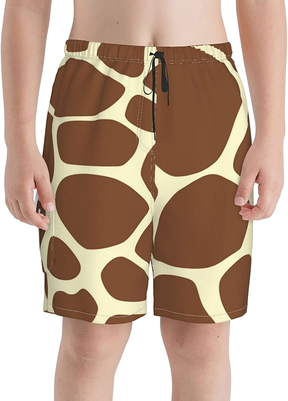 Superior Neddelo Giraffe Print Pattern Boys Teens Beach Trunks Swim Dedication Boar