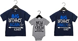 Big Brother Again Big Brother Finally New to the Crew Personalized Shirts