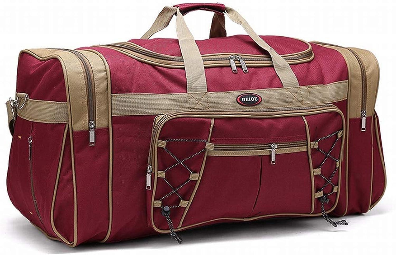 Ovesuxle Wasserabweisende Sport Sporttasche Travel Weekender Duffel Bag für Mnner und Frauen, Fitness, Yoga (Farbe   Dark rot)