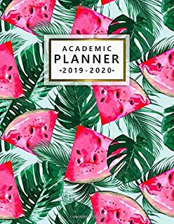 Academic Planner 2019-2020: Weekly & Monthly Dated Academic Planner Organizer with Vision Boards, Course Schedule, To-do Lists, Inspirational Quotes ... - July 2020) - Exotic Floral Watermelon Print