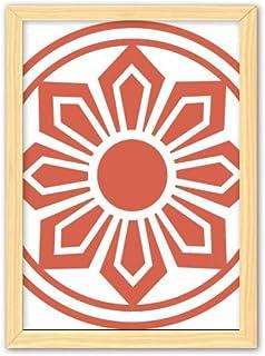CaoGSH Peinture décorative chinoise en bois - Motif traditionnel chinois - Motif floral rouge - A4