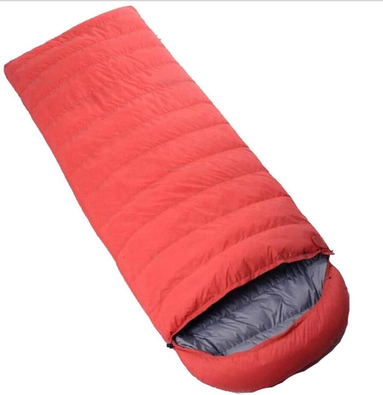 CHENGXIAOXUAN Im Freien Thermischen Hülle Ente Daunenschlafsack Vier Jahreszeiten Warmer Schlafsack Camping Reiseschlafsack,Orange2000g-21080cm