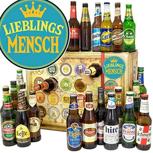 Lieblingsmensch + Bierweihnachtskalender mit Bieren der Welt + Biere aus der Welt