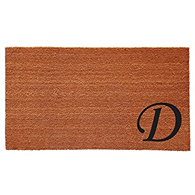 Home & More 153622436D Urban Chic Monogram Doormat  (Letter D), Black/Natural, 24  x 36