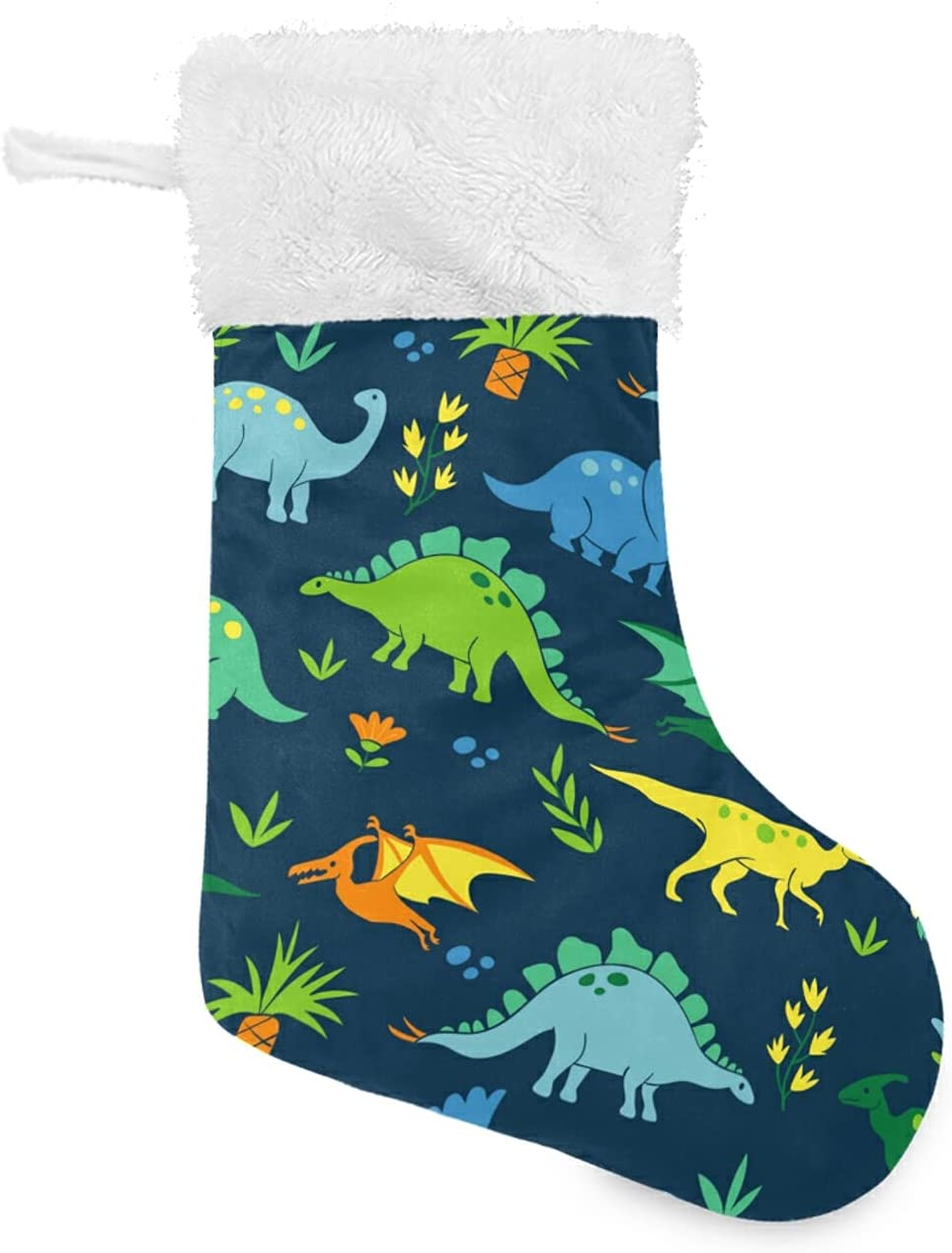 MCHIVER Financial sales sale Dinosaur Colorful Christmas NEW Farmhouse Stockings Classic