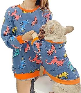 Hond & kat, jas, sweatshirt, sweatshirt voor ouders en figuren van huisdieren en dames, kleding voor honden met twee poten...