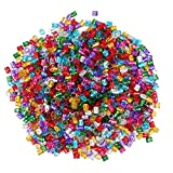 Parrucche clifcragrocl, 100Pcs 8mm Foro Micro Dreadlock Anello Perline Cavo cava capelli treccia Clip regalo - Multicolor