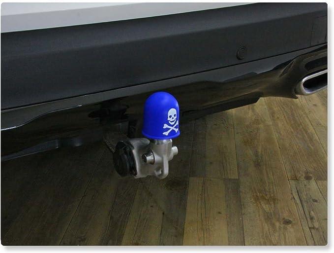 Schutzkappe Anhängerkupplung Deckel Schädel Trike Quad Skull Totenkopf Rosa Auto