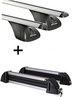 VDP Relingtr/äger CRV135 Skitr/äger//Snowboardtr/äger//Skihalter Alu 4 Paar Ski kompatibel mit Seat Alhambra III ab 10