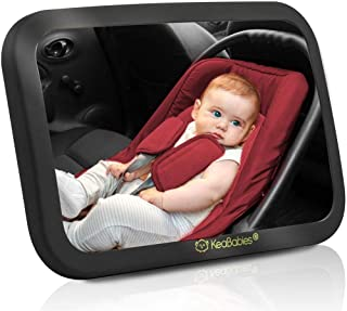 Baby Car Mirror - Safety Car Seat Mirror For Rear Facing Infant - Wide Shatterproof, Crystal Clear Car Baby Mirror - Carse...