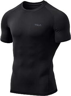 TSLA Men's Thermal Wintergear Compression Baselayer Short Sleeve Shirt