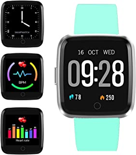 feifuns Smart Watch, IP67 Waterproof Fitness Tracker with 1.3'' Touch Screen, Heart Rate Monitor, Pedometer Watch, Sleep Monitor for Men Women Android & iPhone