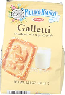 Mulino Bianco Galletti Shortbread Biscuits With Sugar Crystals - 10 Pack, 63.5 Oz