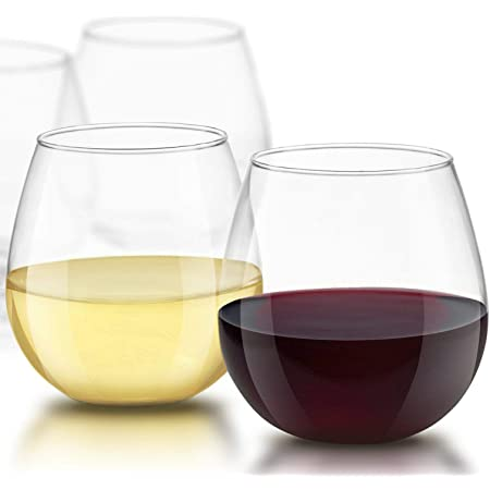 Set of 2 Gift Boxed Dragon Glassware Whiskey Glasses Premium Designer Stemless Tumblers for Red and White Wine 12.5-Ounces