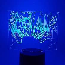 3D Novelty LED Attack on Titan Eren Nightlight Shingeki no Kyojin Home Decor Table Lamp 3D Visual 7 Color Night Light 3D47