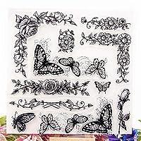 卸売透明クリアスタンプ蝶迷路シリコーンシールローラースタンプDIYスクラップブッキングフォトアルバム/カード作成