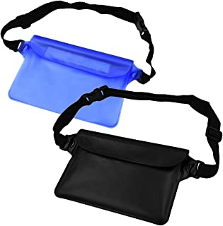NKTM Waterproof Pouch Dry Bag Fanny Pack with Waist Strap Keep Your Cellphone Cash Safe and