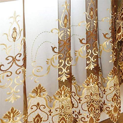Europese en Amerikaanse Stijl Royal Gold Luxe gordijnen Woonkamer gordijn Slaapkamer Gordijn keuken/Hotel, Voile Gordijn, W400cmL250cm