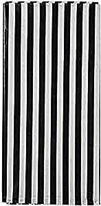 2pcs Plastic Picnic Party Tablecloth ,2 Pack Plastic Picnic Tablecloth 54 Inch. x 108 Inch. Rectangle Table Cover (2pcs- Black White Stripe)