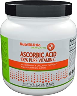 Nutribiotic - Ascorbic Acid Crystalline Powder 100% Pure Vitamin C 2000 mg. - 2.2 lbs.