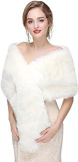 Decahome Wedding Faux Fur Wraps and Shawls Wedding Bridal, Mpj45, Size Medium