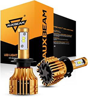 Auxbeam LED Headlights F-S6 Series H7 PX26D LED Headlight Bulbs with 2 Pcs of Led Conversion Kits 60W 6000LM Super Bright SMD Led Chips Single Beam- 2 Year Warranty