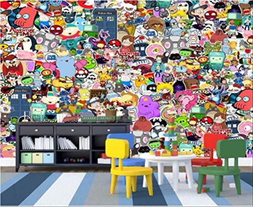 FangXUEPING Aangepaste fotobehang, 3D-muurschildering, behang, cartoon dier, graffiti, muur, kinderkamer, achtergrond, muur, papieren wooncultuur Breite350cm * Höhe250cm Pro