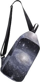 Crossbody Sling Backpack Nasa Galaxy Milky Way Chest Shoulder Bags Multipurpose for Men/Women