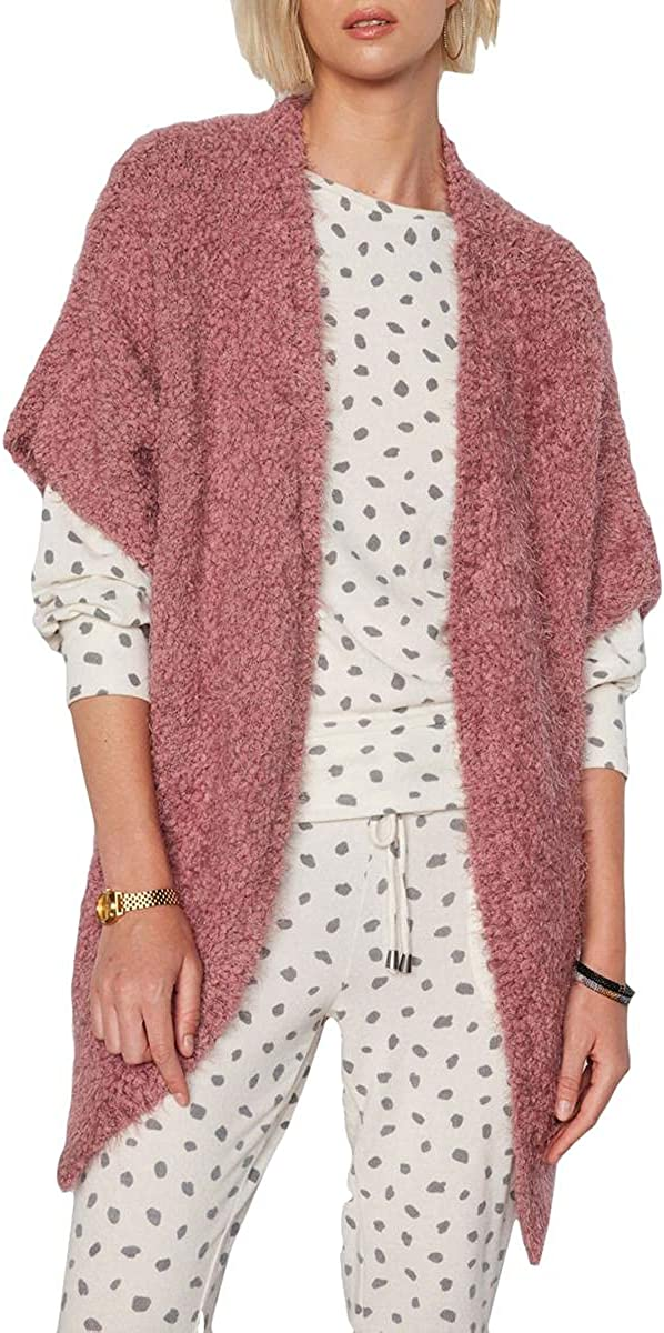 Tart Collections Womens Sara Boucle Open Front Cardigan Sweater