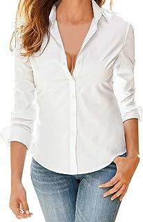 fdfc7c27c Blusa de Mujer BaZhaHei Camisa de Manga Larga para Mujer Formal Oficina  Trabajo Uniforme Señoras Casual
