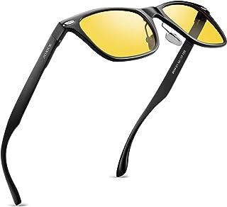 نظارات سوكسيك الليلية للقيادة المضادة للوهج الاستقطاب الرؤية الليلية للرجال والنساء أصفر