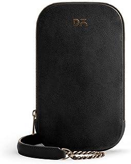 DailyObjects Black Vegan Leather Tallboi Sling Crossbody Bag for girls and women | Vegan leather Mobile Phone Bag | Stylis...