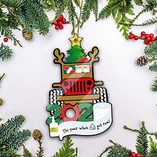 playtailor Santa Claus Je.ep 2020 Ornament Ahvh22102008 X-mas Tree Hanging Decoration, Christ-mas Gift for Friends Family