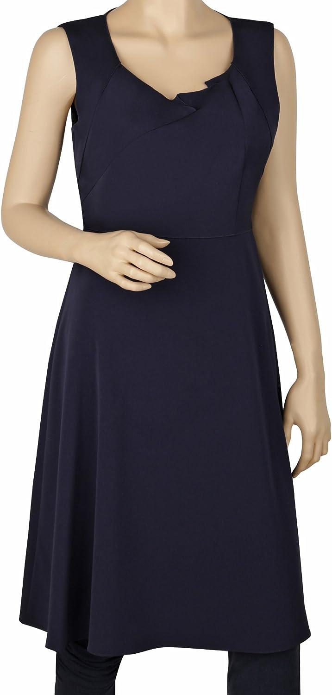 Elie Tahari Ineza In stock Navy Blue Knee-Length Arlington Mall A-line Dress Sleeveless
